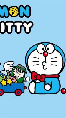 Hello Kitty And Doraemon 500x1000 Wallpaper Teahub Io