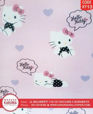44 444358 jual wallpaper dinding hello kitty pink lucu hello