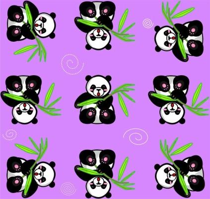 45 451504 panda purple bamboo happy cute cartoon animal panda