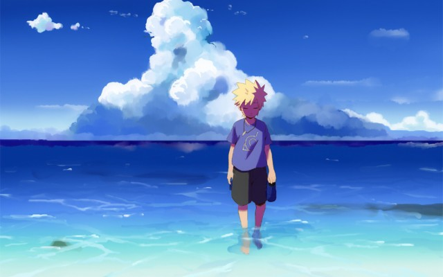 48 482044 sad boy uzumaki naruto naruto wallpaper beach