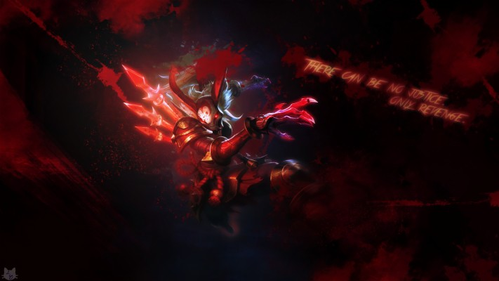 Blood Moon Kalista Blood Moon Yasuo Fan Art 1920x1080 Wallpaper Teahub Io