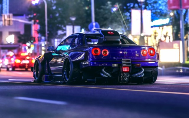 Blue Nissan Skyline Wallpapers Nissan Skyline Gtr R34 1280x804 Wallpaper Teahub Io