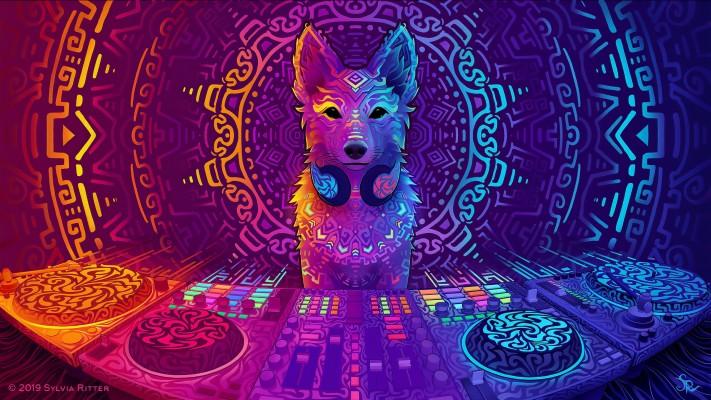 Wallpaper Of Colors, Dj, Wolf, Music Background & Hd - Ubuntu 19.04 Disco  Dingo - 2560x1440 Wallpaper - Teahub.io