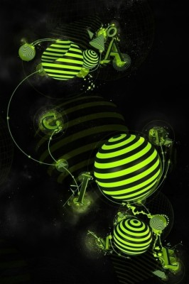 60 607027 iphone 3d wallpapers iphone x green 3d