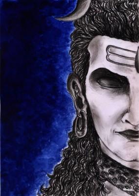 Lord Shiva Smoking Hd Wallpaper Angry Lord Shiva Painting 854x1200 Wallpaper Teahub Io
