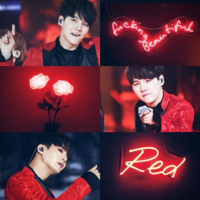 66 668718 bts suga wallpaper red