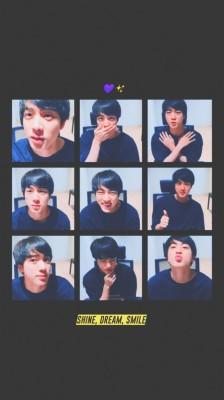 66 669194 bts jin photo collage for lockscreen