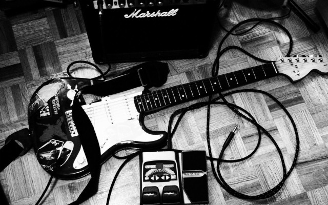 Electric Guitar Wallpapers Hd Guitar Black And White 1280x940 Wallpaper Teahub Io