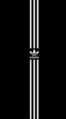 Kent curso Eliminación  Fondos De Pantalla Adidas Black - 750x1334 Wallpaper - teahub.io