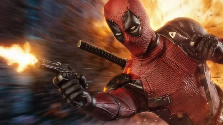Deadpool 4k Superheroes Wallpapers Hd Wallpapers Deadpool With Gun Wallpaper In 4k 3724x2095 Wallpaper Teahub Io