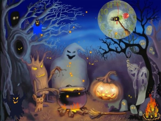 Halloween Computer Free Wallpapers 02 July Anime Halloween Background 1920x1080 Wallpaper Teahub Io