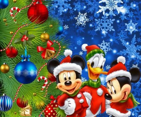Mickey Mouse Christmas Wallpaper Iphone 854x1590 Wallpaper Teahub Io