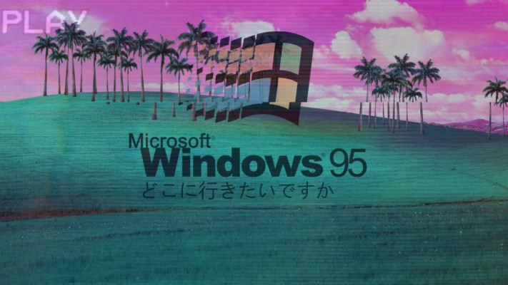 A E S T H E T I C Data Src Aesthetic Wallpapers Macbook Windows 95 Vaporwave Background 1920x1080 Wallpaper Teahub Io